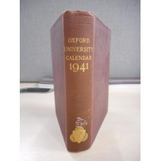Oxford University Calendar 1941 - Used