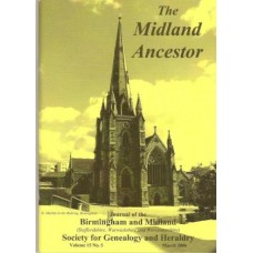 BMSGH - The Midland Ancestor - Booklet back issues 1973 - 2013