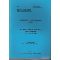 Rowley Regis St Giles Parish Registers Vol 4 1813 to 1849 - Used