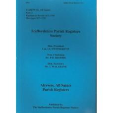 Alrewas All Saints Parish Registers - Used
