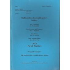 Leek Parish Registers - Used