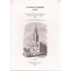 London Parish Map: a Map of the Ecclesiastical Divisions within the County of London 1903 - Used