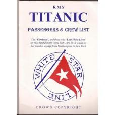 RMS Titanic Passengers & Crew List - Used