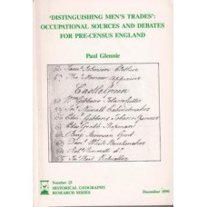 'Distinguishing Men's Trades': Occupational  Men's Trades: occupational sources and debates for pre-census England - Used