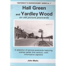 Hall Green and Yardley Wood on old picture postcards - Used