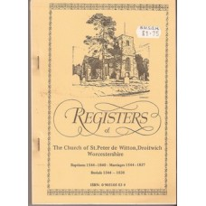 Registers of the Church of St Peter de Witton Droitwich Worcestershire - Used