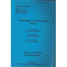 Alrewas All Saints Parish Registers - Used