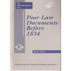 Poor Law Documents Before 1834 - Used