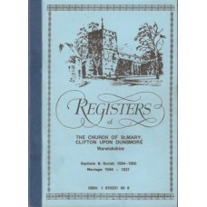 Registers of The Church of St.Mary, Clifton Upon Dunsmore Warwickshire - Used