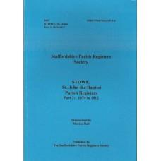 Stowe, St John the Baptist Parish Registers Part 2: 1674 to 1812 - Used