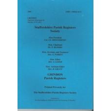 Grindon Parish Registers - Used