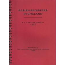 Parish registers in England 1882 - Used