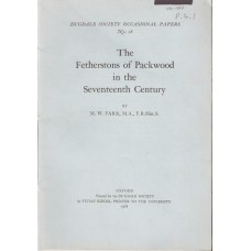 The Fetherstons of Packwood in the Seventeenth Century- Used