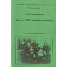 1851 Census Staffordshire: Volume 13 Wolverhampton Eastern. Surname index - Used