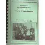 1851 Census Staffordshire Surname Index. Volume 13  Wolverhampton - Used