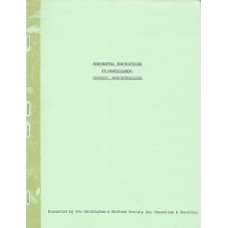 St Bartholomew Church Monumental Inscriptions - Used book