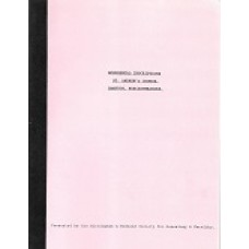 St. Andrew's Church - Hampton - Monumental Inscriptions - Used book
