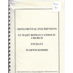Studley - St. Mary Roman Catholic Church -  Monumental Inscriptions - Used book