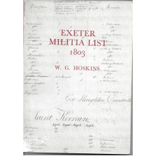 Exeter Militia List 1803 - By W G Hoskins - USED